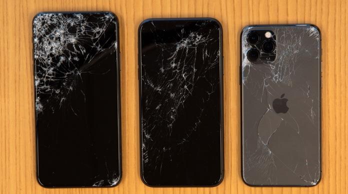 Trường hợp iphone 11 pro max bị rơi vỡ màn