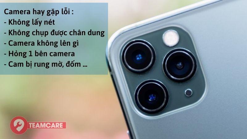 Lỗi thường gặp camera iphone 11