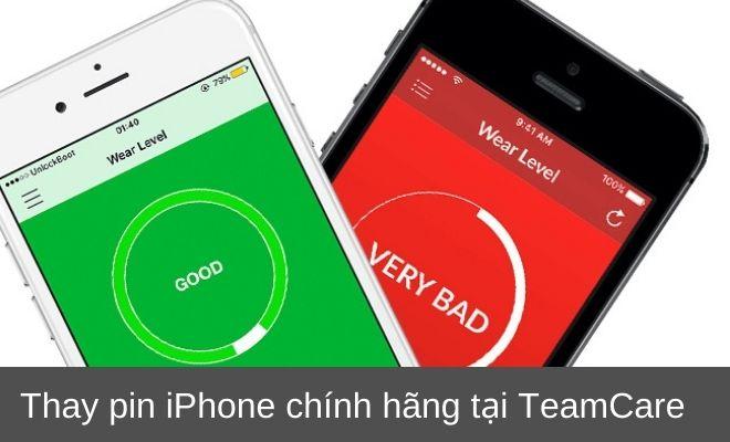thay pin iphone chính hãng teamcare