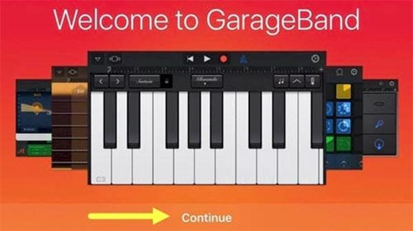 Mở ứng dụng Garageband