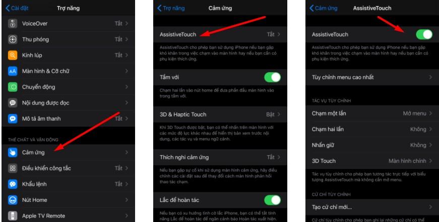 Cách hiển thị nút home trên iphone