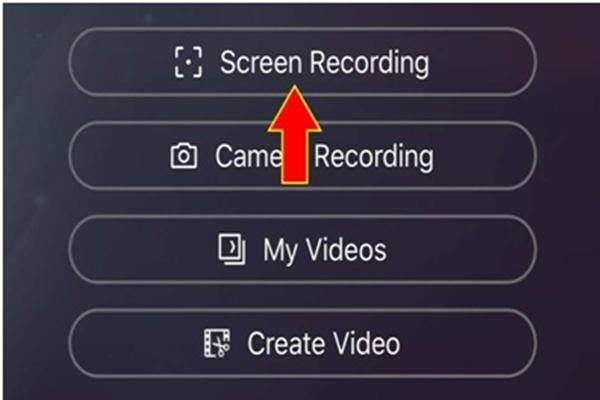 Lựa chọn và mục Screen Recording