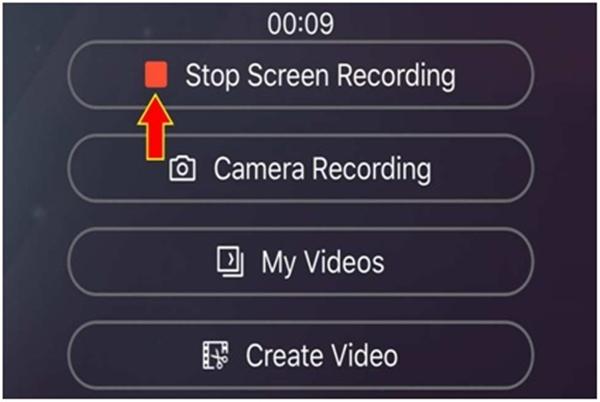 Nhấn vào nút Stop để dừng ghi hình