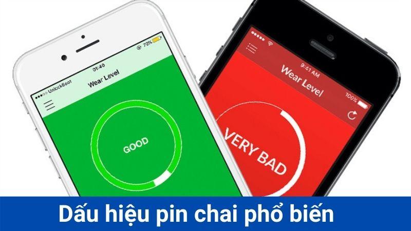 Dấu hiệu chai pin iphone 7
