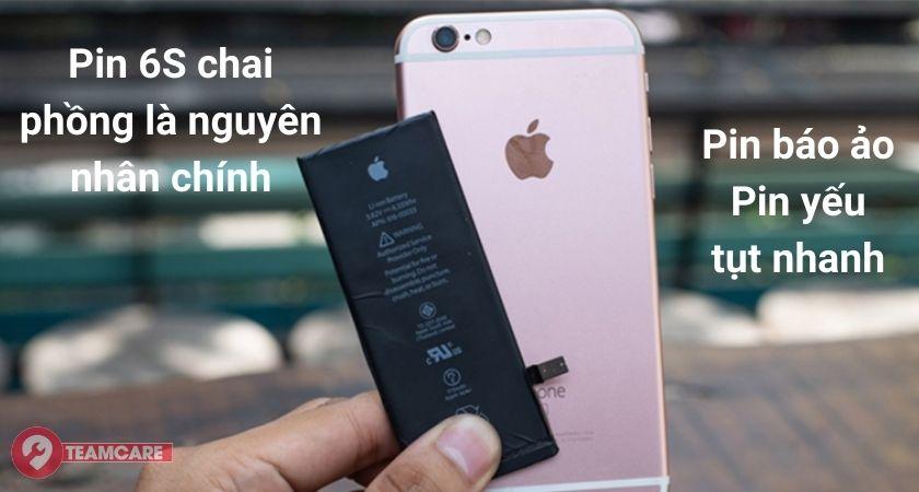 nguyên nhân chai pin iphone 6s