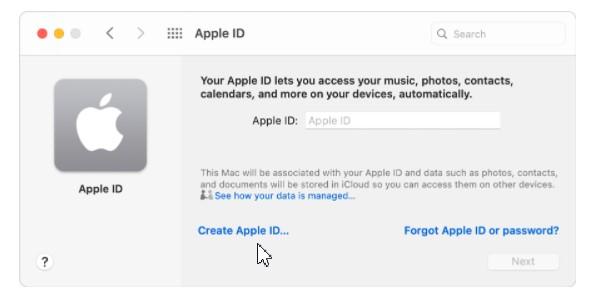 Cách tạo tài khoản iCloud trên Macbook