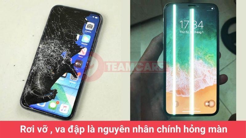 nguyên nhân cần thay màn hình iphone xs max