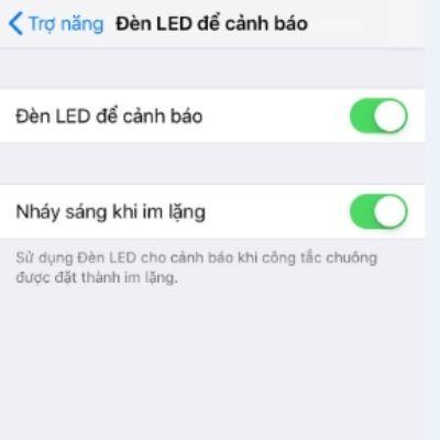 bật đèn led cảnh báo
