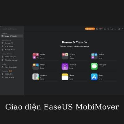 giao diện easeus mobimover