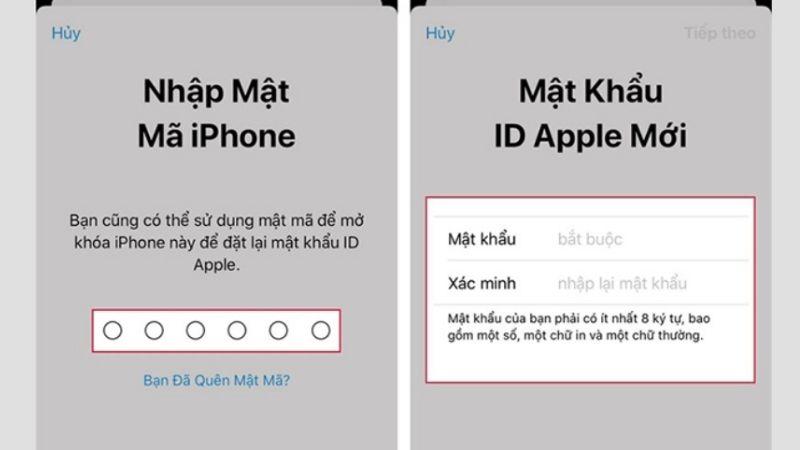 Hoàn tất việc reset mật khẩu apple id