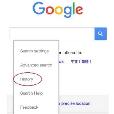 truy cập lịch sử google
