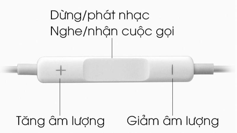 Phím chức năng tai nghe iPhone